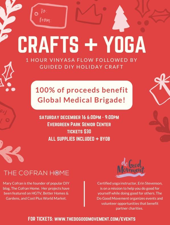 Craft + Yoga Night for Global Brigades