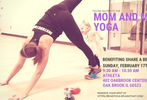 Mom & Me Yoga and Kindness Class at Athleta with Share a Bear Hug