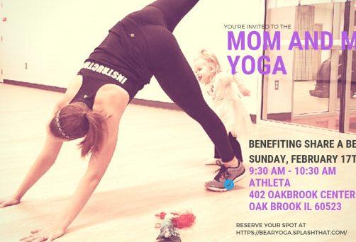 Mom & Me Yoga and Kindness Class at Athleta with Share a Bear Hug