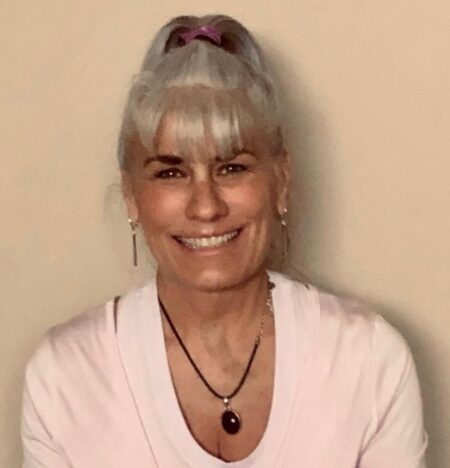 Joanne attended Moksha Yoga Center in Chicago and earned her 200 RYT and 500 RYT certifications. She is also certified in Yoga for Trauma recovery, Yoga for Cancer survivors, Restorative yoga and chair yoga.